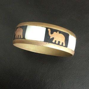 Vintage Elephant Bangle Bracelet